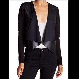 NWT Calvin Klein | faux leather cardigan Sz M